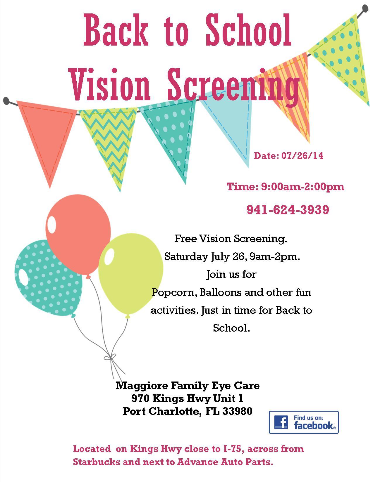 eb0708720762e Back to School Vision Screening – Port Charlotte Eye Doctor ...